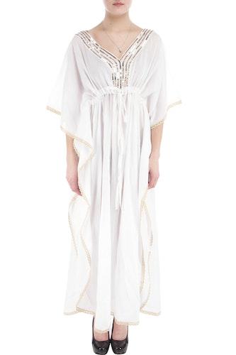 Love forever vit bomulls kimono