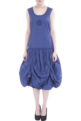 Ewa i Walla blå klänning med snörning