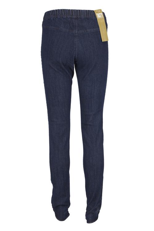 Tasty stretch jeansleggins, washed blå eller svart denim