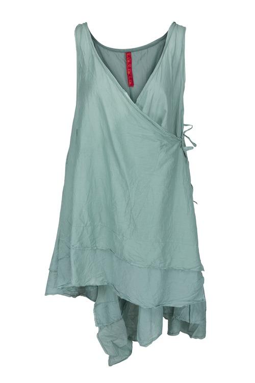 Ewa i Walla omlottklänning/tunika 33191, finns i teal och antiksvart