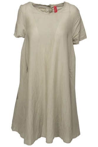 Khakifärgad klänning  med kort ärm  55520