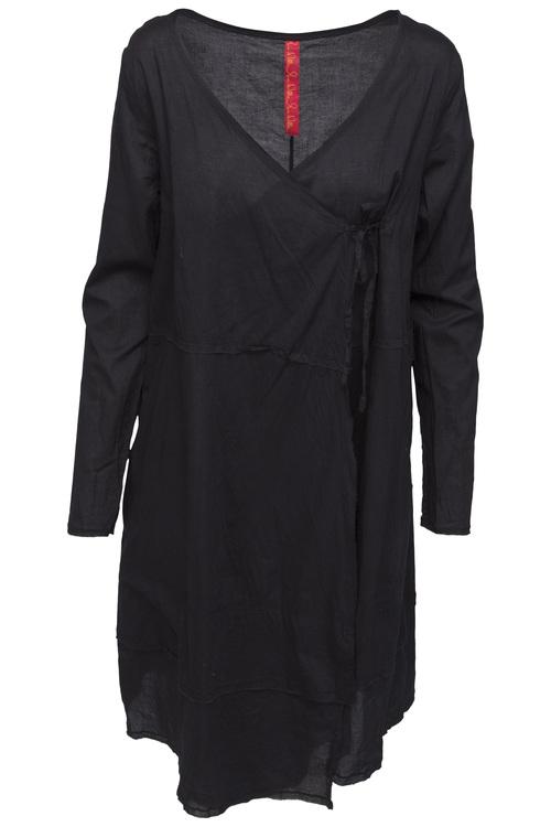 Svart kappklänning  med lång ärm  44582