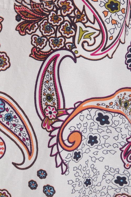 Nörlin blommig tunika i eko tryckt bomull