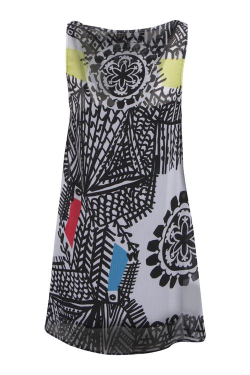 Desigual klänning Natalia,med underklänning i tikå