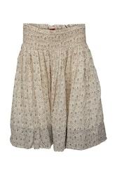 Ewa i Walla blommig kjol Beige 22847