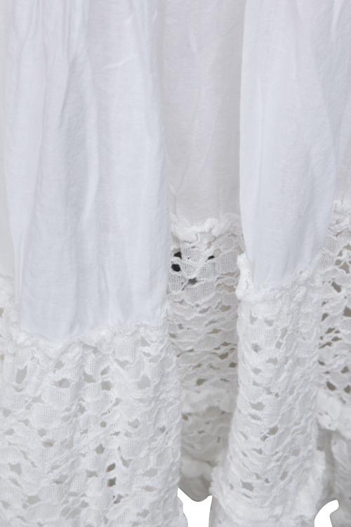 Love forever vit tunika med spetsdetaljer