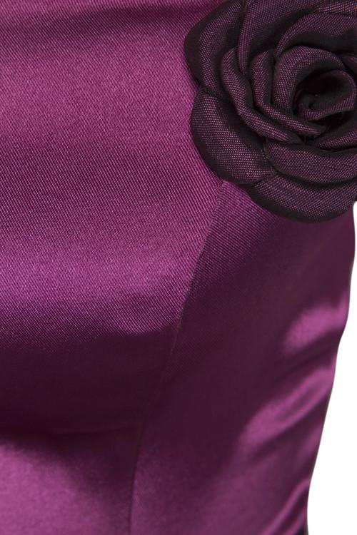 Lång vinröd bal/fest klänning