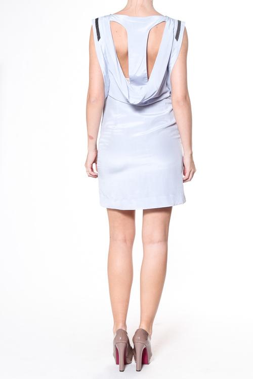 Karen By Simonsen sidenklänning, isblå