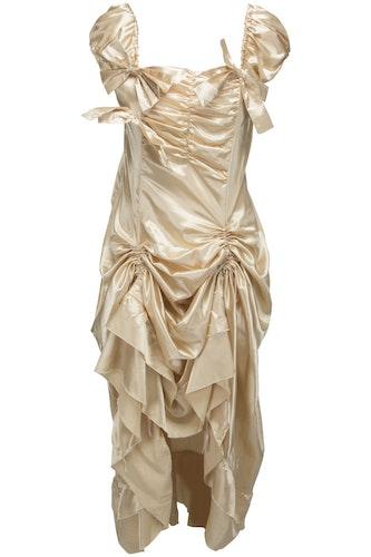 Champagnefärgad festklänning 2 delar