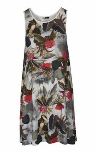 DesignWerket klänning i tropikmönster