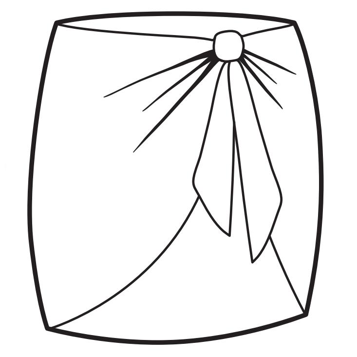 Sunkini kort sarong i turkosmönstrat
