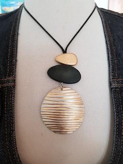 Culture Mix halsband, med randig rondell