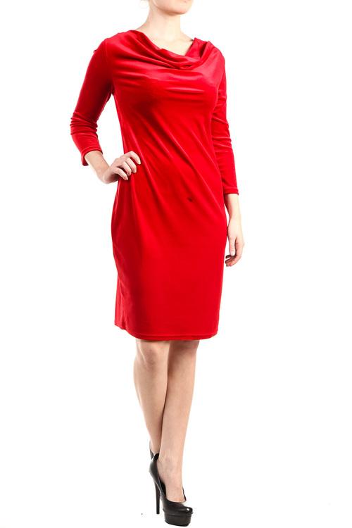 DesignWerket röd klänning i sammet