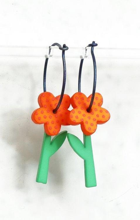 Örhängen orange blomma