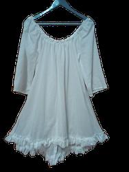 Vit Kailash singoalla klänning/tunika med halvlång ärm