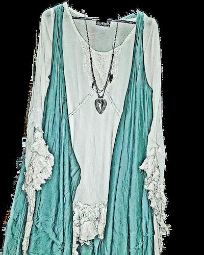 Kailash kort klänning med knytband
