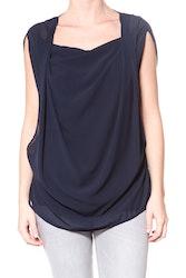 Karen By Simonsen marinblå Jacky blouse 43161