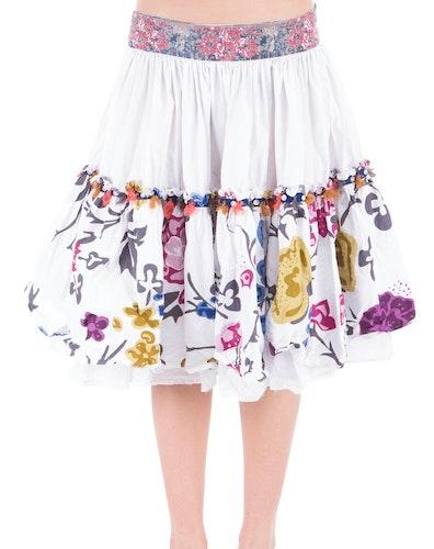 Ewa i Walla kjol med blomsterbård