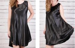 Svart tunika/klänning i satäng Frida från Faith