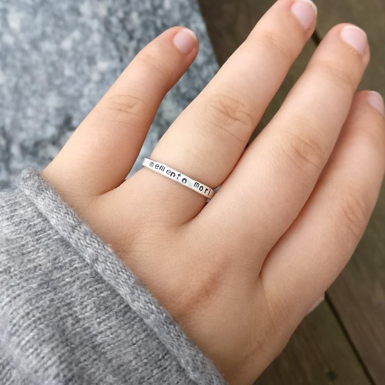 Vegan - Ring i Återvunnet silver