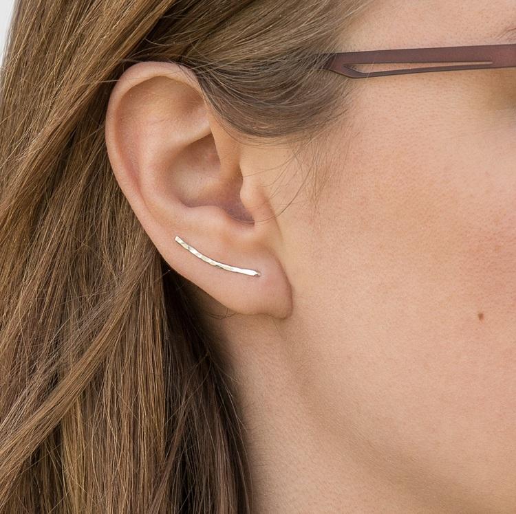 Singel Ear Climber Örhänge Återvunnet Silver