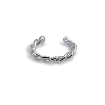 Septum Non-piercing Ring Tvinnad - Återvunnet Sterling Silver