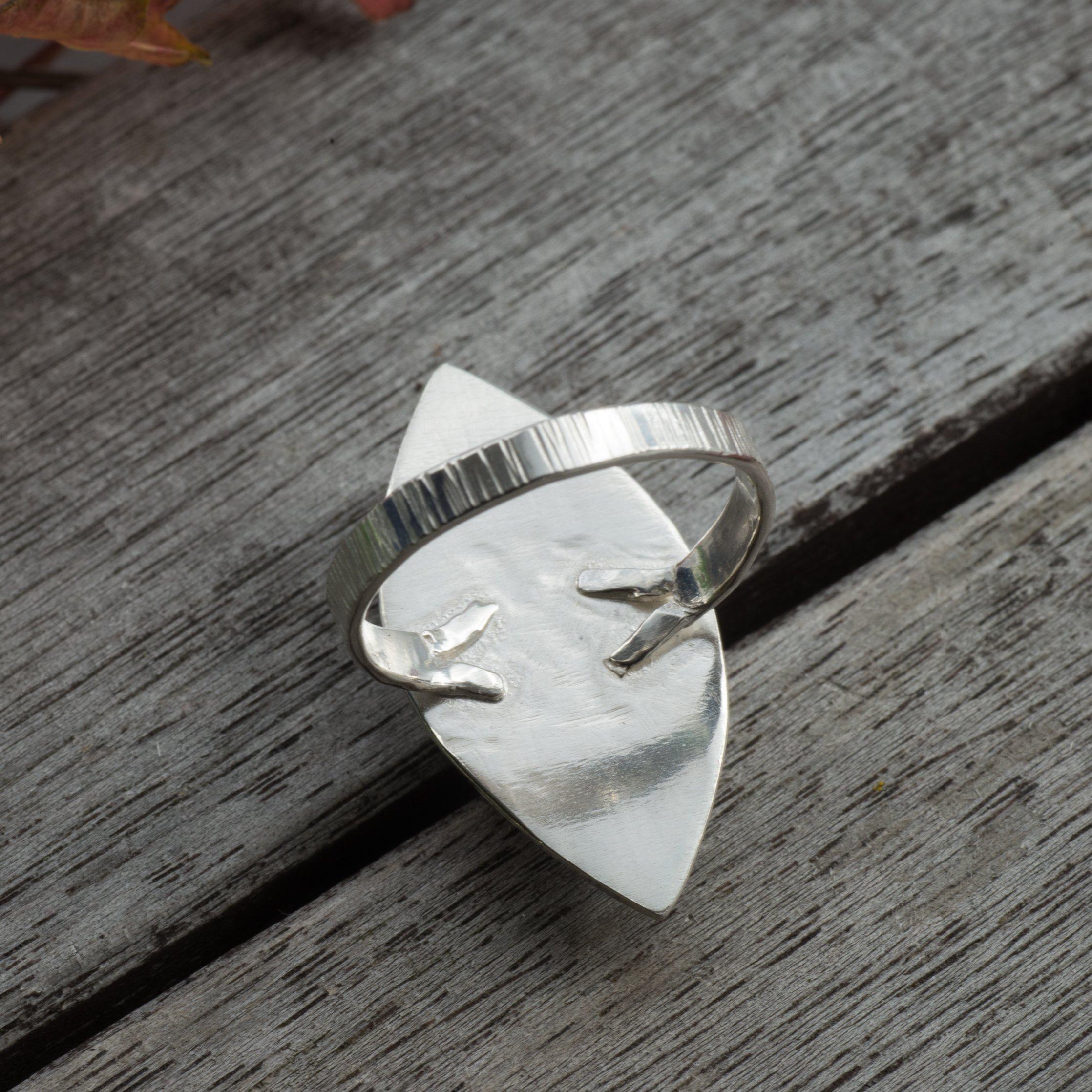 REA Lysa - Ring med Krysokoll Sterling Silver, Storlek 18,5, Grön