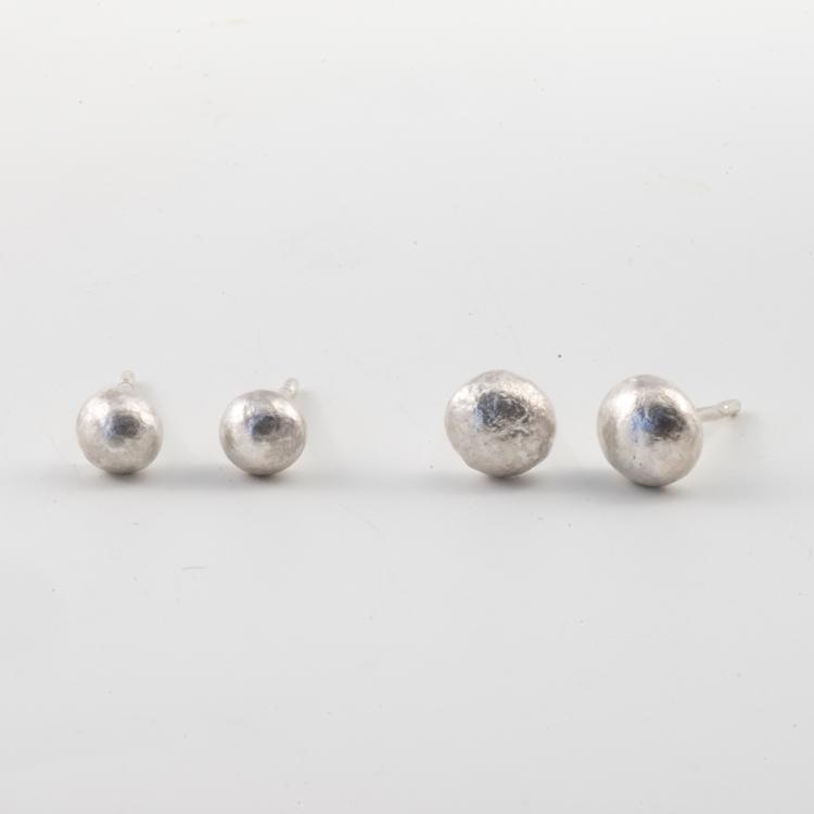 Smält Droppe - Örhänge Återvunnet silver