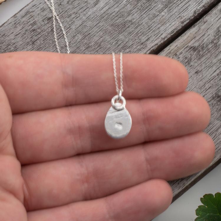Halsband med Opal i Sterling Silver