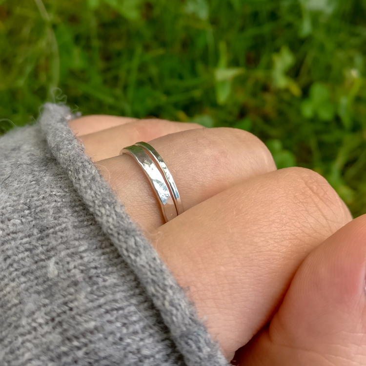 Ring 2,5 mm Återvunnet Silver