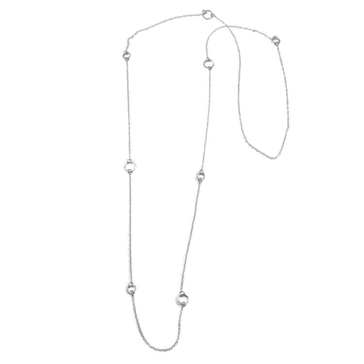 REA Bark - Långt Halsband i Återvunnet Silver