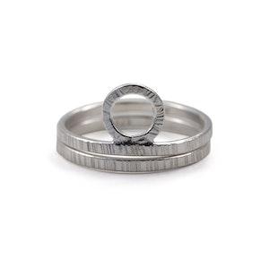 Bark - Ring Set i Återvunnet Silver