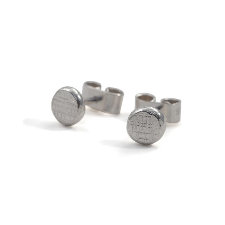 Cross Hatch - Örhänge i Återvunnet Silver
