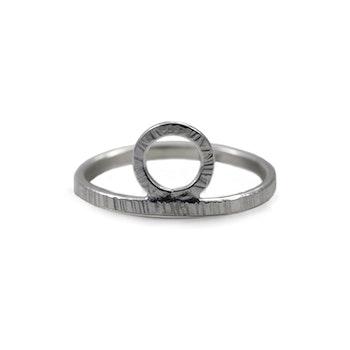 REA Bark - Ring med Krona i Återvunnet Silver storlek 16,5