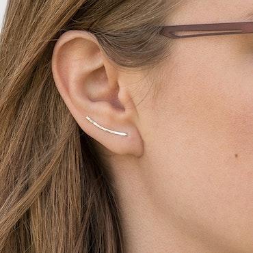 Ear Climber – Örhänge i Återvunnet Silver