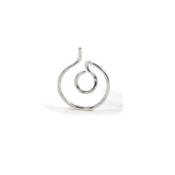 Singel Ear Jacket - Örhänge Cirkel i Återvunnet Silver