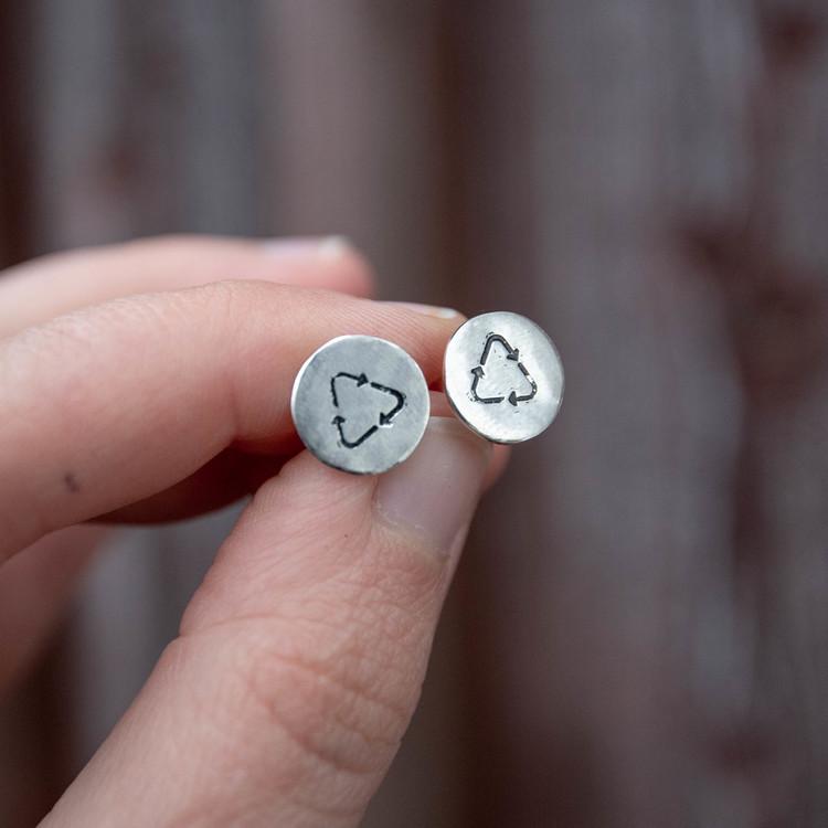 Recycle - Örhänge i Återvunnet Silver