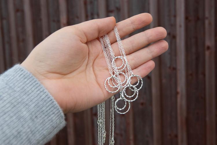 Tvinnad - Halsband i Återvunnet Silver