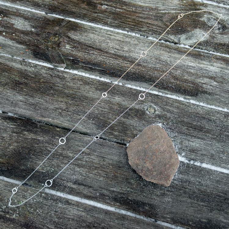 Bark - Långt Halsband i Återvunnet Silver