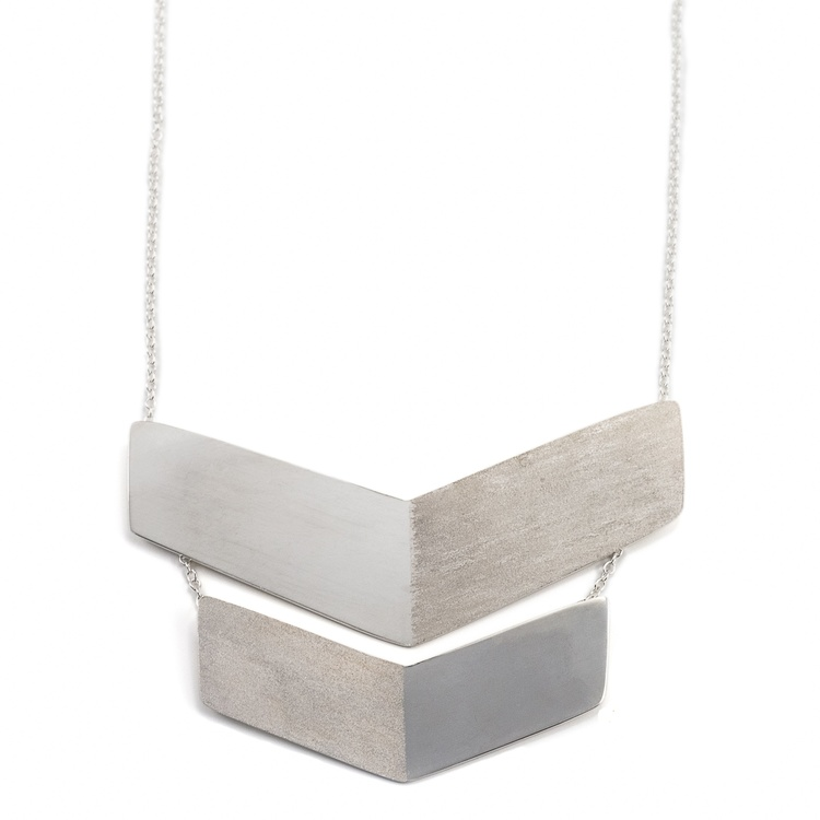 Chevron Halsband Återvunnet Silver - MNOP Jewelry - Handgjorda ... b0f2c76ef354a