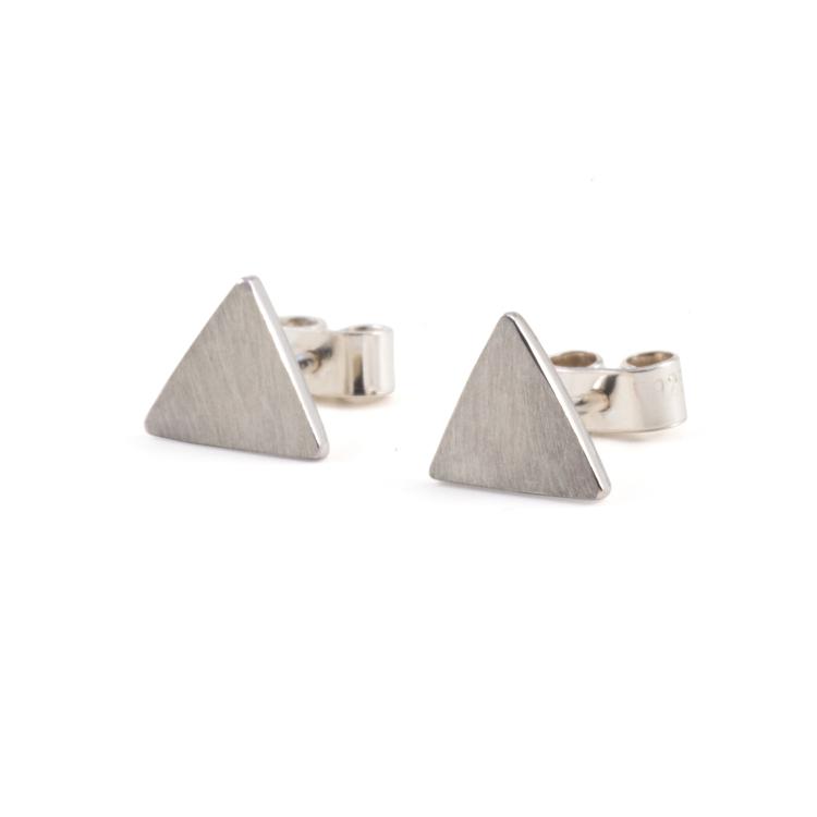 Triangel - Örhänge Återvunnet silver