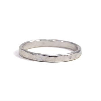 Ring Hamrad 2,5 mm Återvunnet Silver