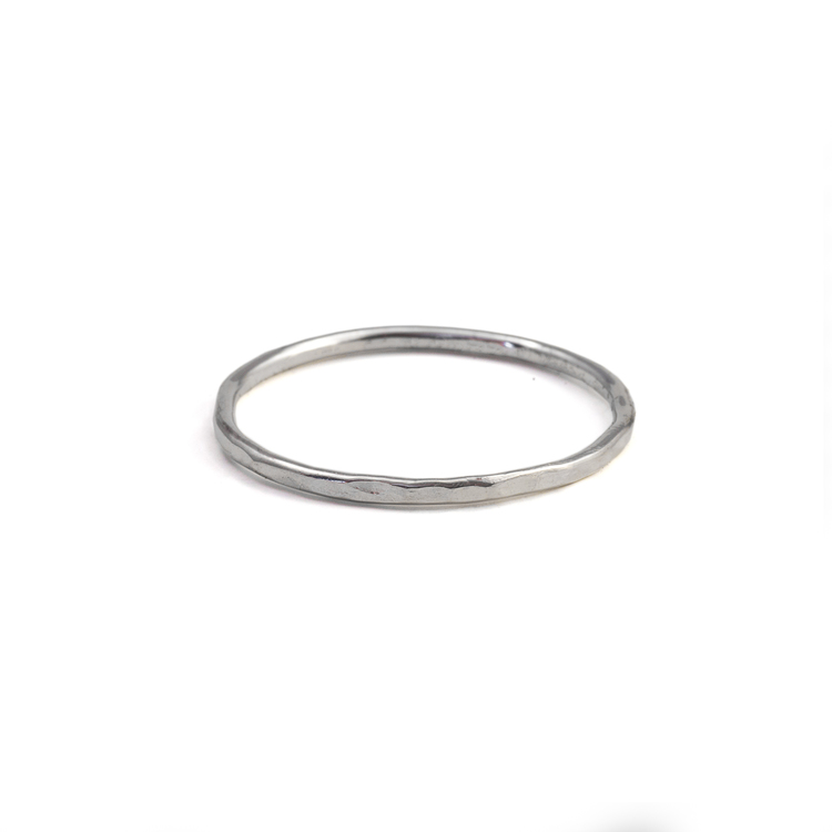 Smal Ring 1,2 mm Återvunnet Silver