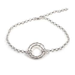 Tvinnad - Armband i Återvunnet Silver