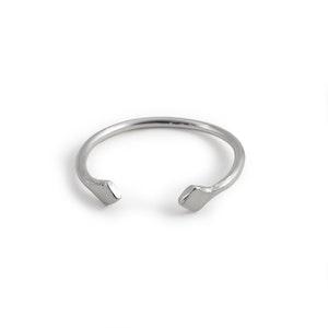 Romb - Justerbar Ring i Återvunnet Silver