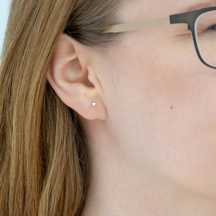 Microhjärtan - Örhängen i Återvunnet Silver