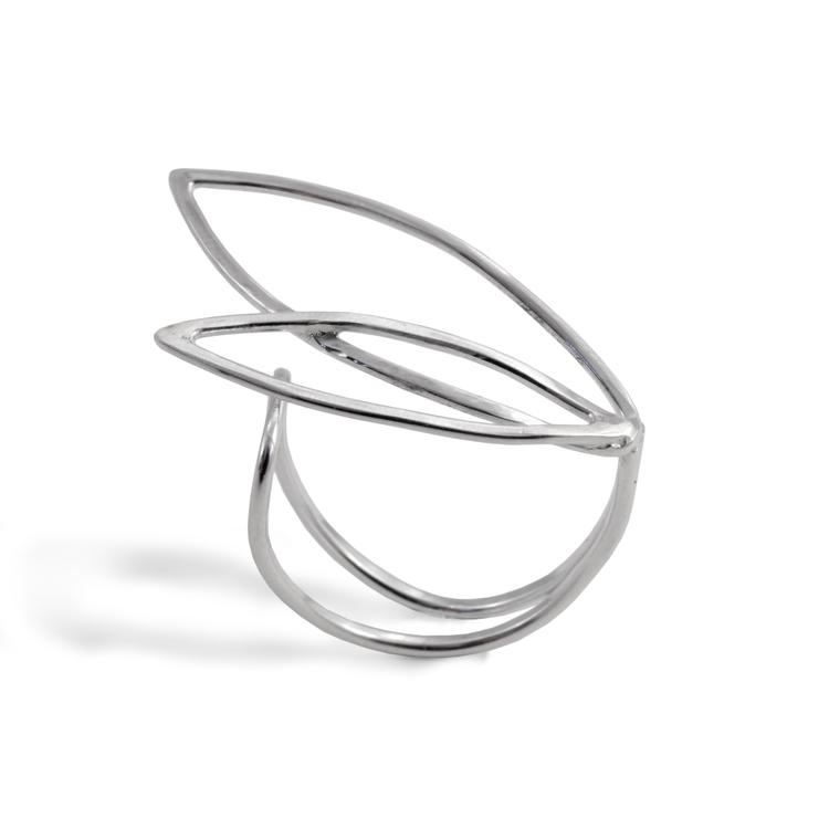 REA Spira - Justerbar Ring i Återvunnet Silver