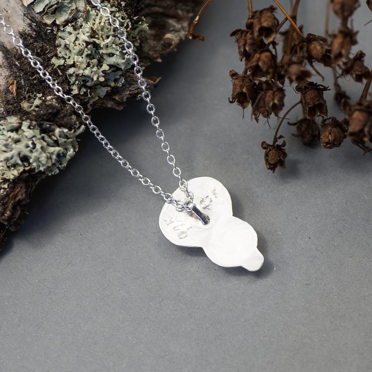 Halsband med Rosenkavrts och Amazonit sten i Sterling Silver