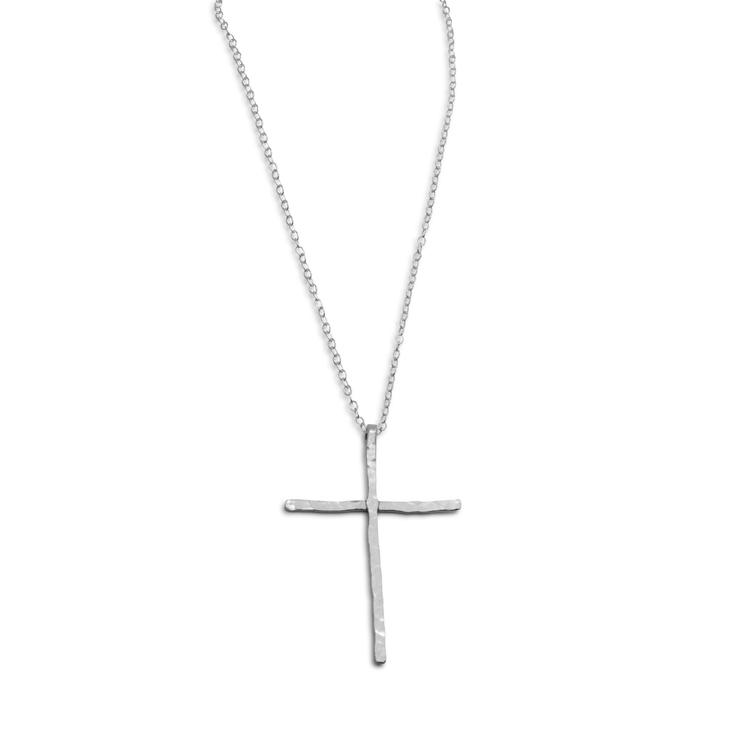 Halsband Stort Kors Återvunnet Silver