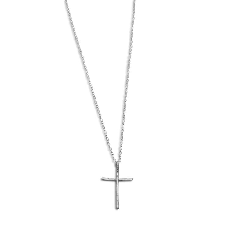 Halsband med Kors Återvunnet Silver